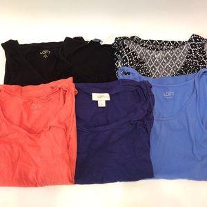 Bundle 6 Small LOFT Career Shirts